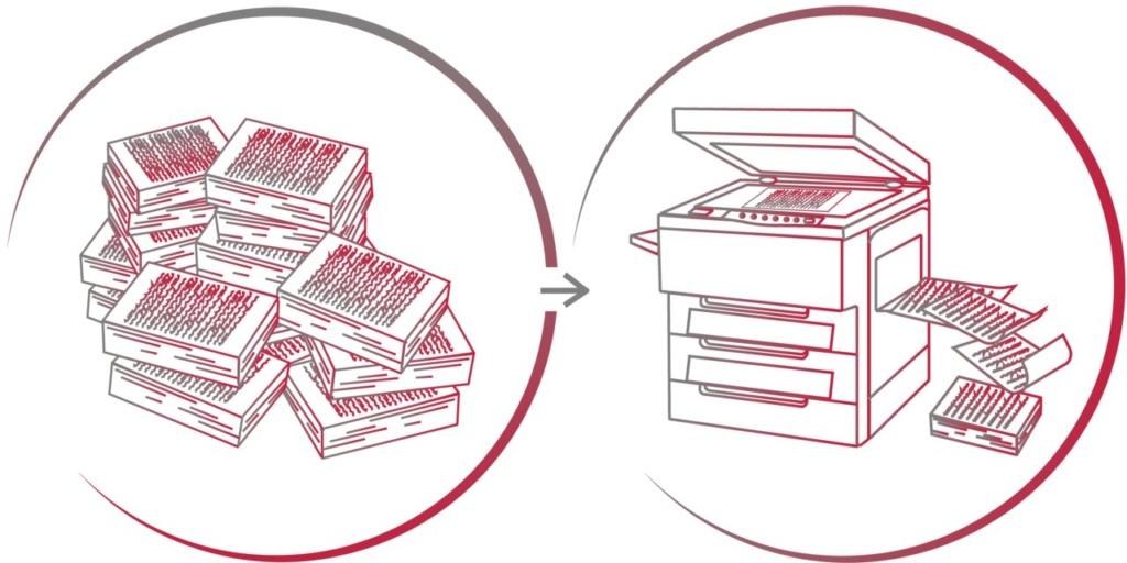 Оперативное копирование больших объемов документов